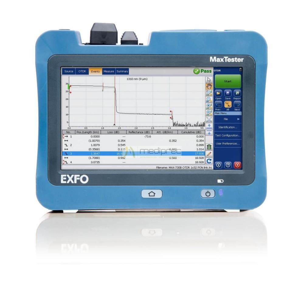 Otdr exfo max 730b m2 ftth planta externa alquiler y for Pianta esterna