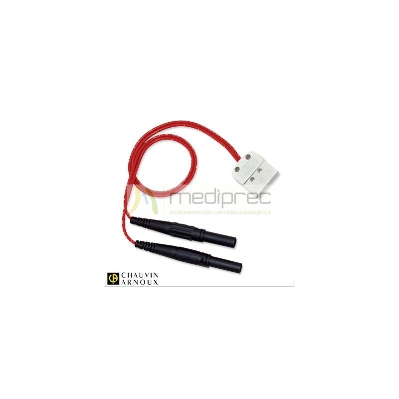 Adaptador conector Pt100 3 hilos a bananas 4mm para CA8220 y ASYC IV