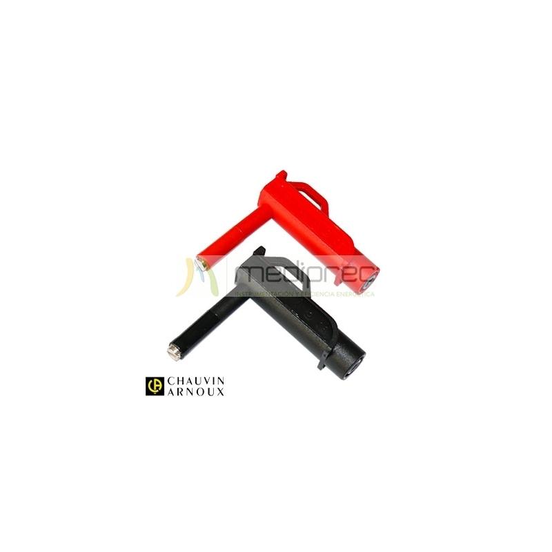Juego de puntas de prueba magnéticas R+N sin cables (Conexión 4mm)