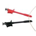 Accesorio para amperímetro o pinza, para medición de corriente directamente sobre la toma de red