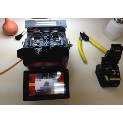 Cambio de electrodos de fusionadoras de fibra óptica