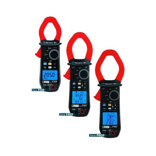 Pinza de potencia y armónicos 1000Aca+cc TRMS. Registro-Bluetooth