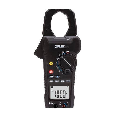 Medidor de tenaza FLIR CM78 de 1000 amperios ac/dc con ir y bluetooth meterlink
